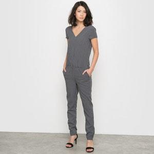 Short-Sleeved Geometric Print Jumpsuit R édition