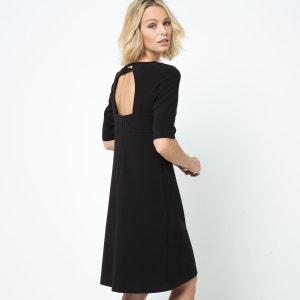 Vestido trapezoidal con espalda abierta LAURA CLEMENT