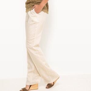 Pantalon droit, 100% lin atelier R