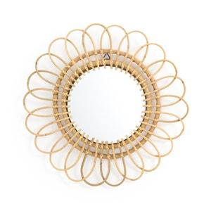 Spiegel in rotan, bloemvormig, Ø60 cm, Nogu