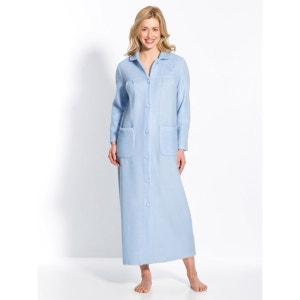 Robe de chambre col Claudine en courtelle SECRETS DE MODE