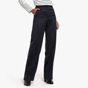 Rechte broek in gemengde wol