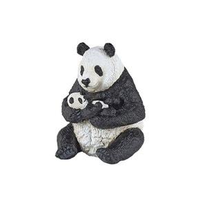Figurine : Panda assis et son bébé PAPO