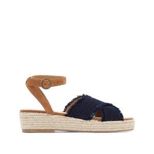 Sandalias con tacón de cuña de cuerda, para pie ancho, del 38 al 45 CASTALUNA