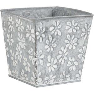Cache pot en zinc motif fleurs AUBRY GASPARD