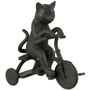 Statuette déco le chat à vélo JOLIPA
