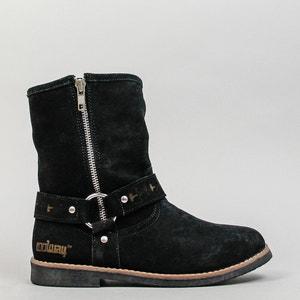 Boots en cuir suédé avec zip BETUSTA COOLWAY