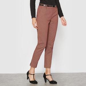 Pantalón tobillero en satén de algodón stretch ANNE WEYBURN