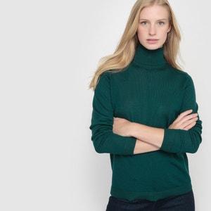 Sweter z wywijanym kołnierzem z wełny merynosowej R essentiel