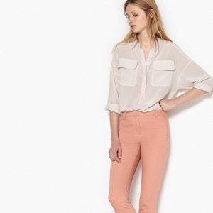 Blusa de seda con cuello mao y bolsillos en el pecho La Redoute Collections