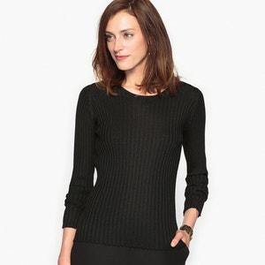 Pullover mit rundem Ausschnitt, 50% Merinowolle ANNE WEYBURN