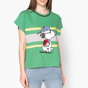 Tee shirt court motif Snoopy SCHOOL PAUL AND JOE SISTER
