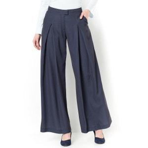 Wide-Leg Box Pleat Trousers ANNE WEYBURN