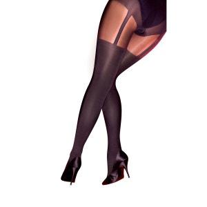 Collants chaussettes femme la redoute - Collant effet porte jarretelle ...