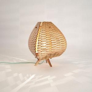 Lampe design à poser en bois WEBENTWOOD
