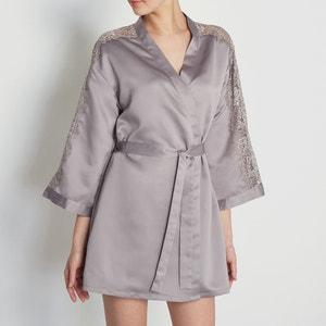 Kimono aus Satin und Spitze LOUISE MARNAY