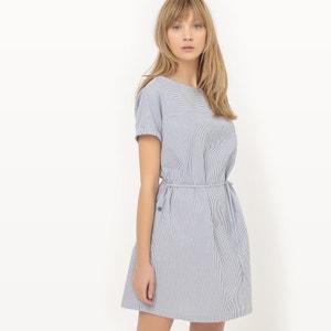 Gestreepte rechte jurk R essentiel
