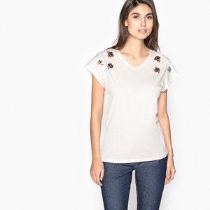T-shirt con scollo a V, cotone & modal ANNE WEYBURN