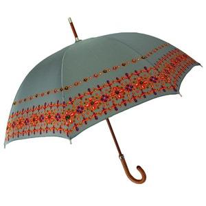 Parapluie NEYRAT Autun - Fabrication Française - motif floral rouge en bordure NEYRAT