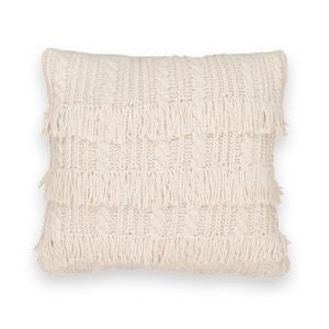 Funda para cojín de punto tricot con flecos LOPIK La Redoute Interieurs
