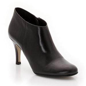 Heeled Leather Zip-up Boots JONAK