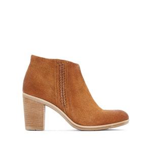 Boots in leer met hak Melody MJUS