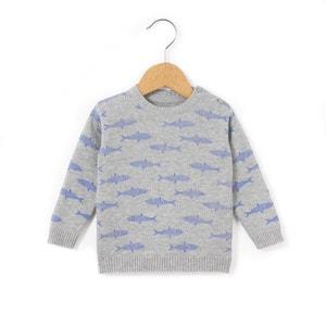 Sweter z nadrukiem rekinów, 1 mies. - 3 lata R essentiel