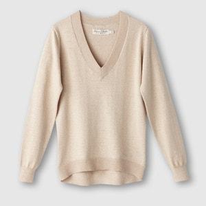 Пуловер с V-образным вырезом и длинными рукавами из тонкого трикотажа FREEMAN T. PORTER
