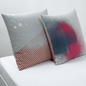 Festival Printed Cotton Pillowcase La Redoute Interieurs