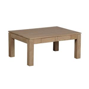 Table basse rectangle 2 tiroirs Manguier massif 90x65x40cm BOREAL CLAIR PIER IMPORT