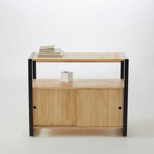 Mueble bajo de baño de pino macizo/metal, Hiba La Redoute Interieurs