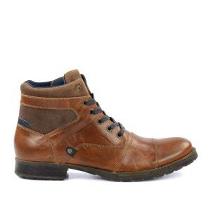 Boots à lacets en cuir sportives - brun SACHA