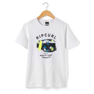 T-Shirt Printed with Van Motif: 8-16 Years RIP CURL