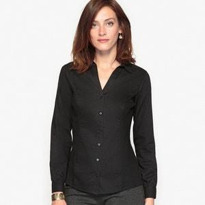 Блузка из двух материалов ANNE WEYBURN