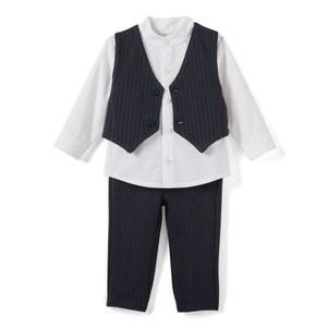 Conjunto fiesta 3 prendas, cuello mao, 1 mes - 3 años La Redoute Collections