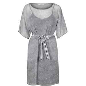 Robe imprimée, resserrée par lien NUMPH