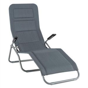 Blumfeldt Vitello Noble Transat chaise longue bain de soleil 140 x72 x104 - gri BLUMFELDT