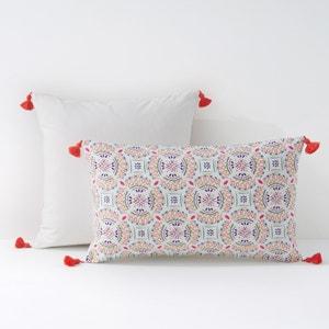 Rosette Print Percal Cushion Cover or Pillowcase La Redoute Interieurs