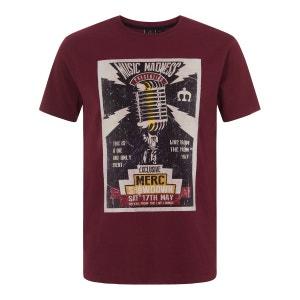 Tee-shirt à col rond d'inspiration rock NESBITT MERC LONDON