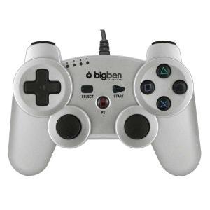 Mini manette filaire silver métallisé pour PS3 BIG BEN