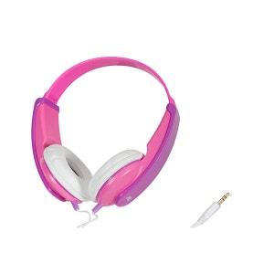 Casque audio JVC HA-KD5-P-E Casque enfant rose-violet JVC