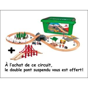 Brio 33169-103 Circuit de train en bois avec pont suspendu offert. BRIO