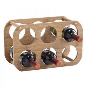 Etagère rangement 6 bouteilles en bambou zeller ZELLER PRESENT