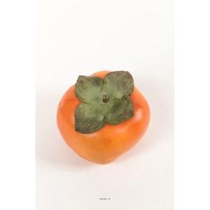 Kaki fruit exotique artificiel 9 cm ARTIF-DECO
