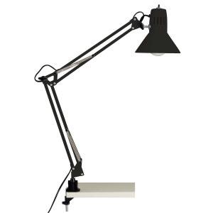 Lampe de bureau clip industrielle articulée HOBBY noire en métal KERIA