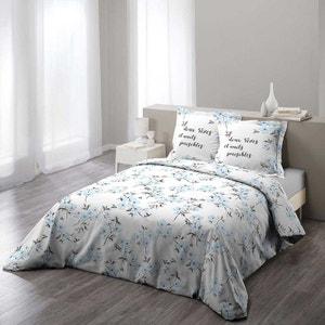 Housse de couette bleue avec fleurs la redoute - Parure de lit fleurie ...