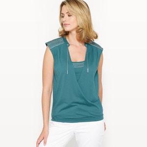 T-shirt in katoen & modal ANNE WEYBURN