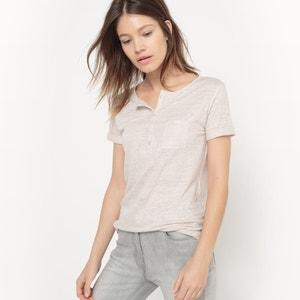 Short-Sleeved Linen T-Shirt R studio