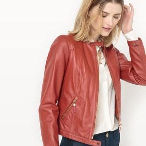 Блузон кожаный в авиаторском стиле La Redoute Collections