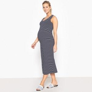 Robe marinière de grossesse longue en maille La Redoute Collections